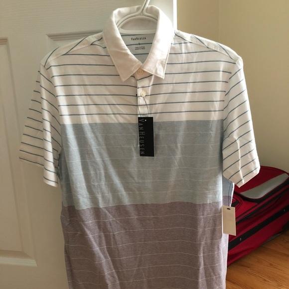 41bd8e2551092 Men s Van Heusen Multi-color Striped Polo